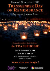 Transgender Day of Remembrance - Flyer