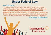 Les étudiants trans* protégés par la loi fédérale aux USA
