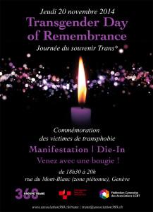 Transgender Day of Remembrance 2014 - Geneva